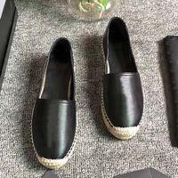 여성 캐주얼 신발 디자이너 신발 빈티지 플랫폼 EspAdrilles 여자 정품 가죽 패션 플랫 바닥 산책 구두 상자 크기 35-42