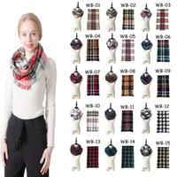 Mantas 12pcs Infinity bufandas cuadrícula Loop bufanda Mujeres Mantas Tartán Chal de gran tamaño de celosía Wraps con flecos tela escocesa bufandas CCA11888