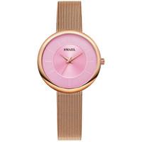 맨 위 여성 시계 럭셔리 브랜드 Smael 시계 여성 디지털 캐주얼 방수 쿼츠 손목 시계 1908 년 소녀 시계 방수