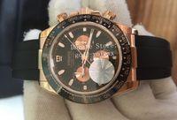Lujo personalizado para hombre cronógrafo automático Cosmograph Eta 7750 hombres oro rosa 28800 Vph Hz cerámica Valjoux correa de goma JF 116515 Relojes