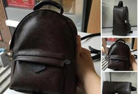 새로운 고품질 PU 유럽 여성 가방 유명한 디자이너 핸드백 캔버스 배낭 여성 학교 가방 F1 배낭 스타일 배낭 브랜드 # 1586G