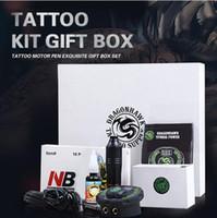 Tatuaggio kit professionale Set rotativa del tatuaggio della macchina della penna di alimentazione dell'inchiostro fissa il trasporto Hot Needles Accessori liberi
