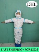 In DHL della vestiti di isolamento impermeabile Hazmat Suit Suit Cuff Frenulum protezione Antistaic monouso abiti di protezione per i bambini