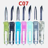 preço de atacado 70 modelos samll C07 7 polegadas de dupla ação autodefesa dobrável EDC faca facas automáticas auto faca xmas presente Adker