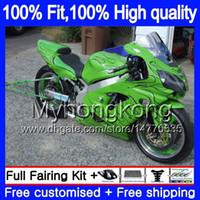 Iniezione OEM per Kawasaki ZX 12R ZX1200 1200cc 2002 2003 2004 2005 2006 224MY.44 ZX 12 R ZX12R ZX12R 02 03 04 05 06 carenatura verde nero