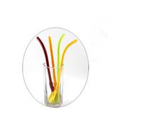Suministros creativas de cucharas de plástico de colores paja pajas dringking batidos agitación Batido Party pajas de cucharas 500pcs CCA11869-C