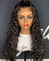 Lace Front Human Hair Wigs For Black Women 150 denstity Braz...