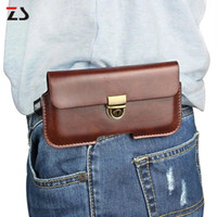 Universal Leather Waist Wallet Mobile Phone Bag Case Cover F...