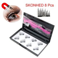 3D Magnetic Wimpern Invisible Magnet Lashes Mink Wimpern mit Tweezer Magnet Mink Lashes Thick Vollstreifen Falsch