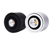 Yüzey LED Sürücü ile LED COB Aşağı ışık 360 Derece Döner LED Spot Işık 3W 7W 10W 18W Tavan Lambası Monteli