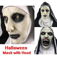 Halloween Nonne Maske Scared weibliches Gesicht Perücke Celebrations-Thema-Partei Cosplay Bar Performance Nacht Performance Carnival Grausigkeitschablone