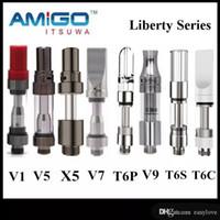 Genuine Amigo Itsuwa Liberdade tanque V1 V5 V6 V7 V9 V10 V12 V14 X5 T6S T6P T6C cartuchos de cerâmica vaporizador frete grátis