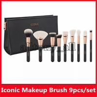 Hot ICONIQUE LONDON haute définition Maquillage du visage brosse de Fondation Pinceau Pinceau avec détail libre Drop Shipping