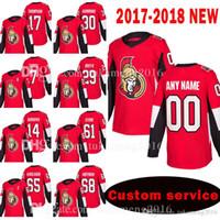 Mens Dxwe Ottawa Senators Personalizado 17 Nate Thompson 30 Andrew Hammond Jersey 7 Kyle Turris 29 Johnny Oduya 14 Alexandre Burrows Jerseys
