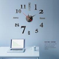 벽시계 3D 시계 미러 스티커 크리 에이 티브 DIY 이동식 아트 데칼 스티커 홈 장식 거실 석영 바늘
