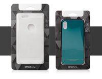 Custodia per cellulare universale Scatola di carta Kraft Scatola per imballaggio al dettaglio nera per iPhone Custodia per cellulare Samsung