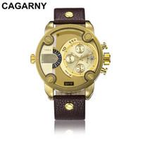 Cagarny Top-Uhr-Mann-Quarz-analoge Männlichen Uhren der Männer beiläufige Art und Weise Sport-Armee-Armbanduhr Mann erkek Saatler