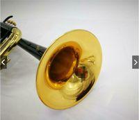 Yeni Bach Stradivarius LT180S-37 Siyah Nikel Altın BB Trompet Pirinç Aletleri BB Trumpete Horn Ücretsiz Kargo