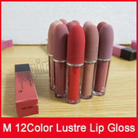 .M Makeup 12 color Lips Lustre Lip Gloss Liquido opaco Rossetto naturale a lunga tenuta waterproof per labbra