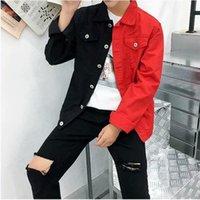 E-Baihui NUEVO Casual delgado Chaqueta de mezclilla para hombres Jeans Chaqueta Homme Letras Bordado Streetwear Hombre Puntando Color Denim Abrigo Hip Hop Jackets