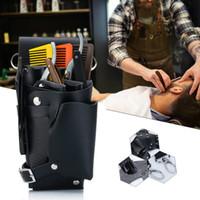 Styliste coiffure outils Sac de taille Ceinture, Sac Ciseaux Coiffeur professionnel peigne cuir Outils de cheveux Salon de coiffure coiffure Kit de poche