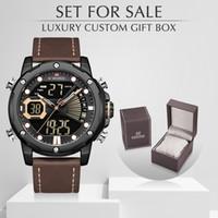 NAVIFORCE Мужчины Часы с Box Set для продажи Мужские Спортивные часы LED аналоговый цифровой Кварцевые часы Мужской водонепроницаемый Relogio Мужчина для