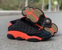 أفضل نوعية 13 ثانية جلطة منخفضة أسود الأشعة 23 مصمم رجل كرة السلة الأحذية النسائية جميلة الثالث عشر جلطة الأزياء الرياضية رياضية مع مربع الأصلي