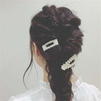 New Fashion Metal Imitation Pearl Hair Clip For Women Girls ...