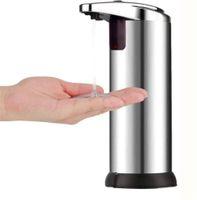 Santizer dağıtıcı Dokunmadan Otomatik Banyo Aksesuarları Paslanmaz Çelik Eller serbest Ev IR Sensörü Hassas Şampuan Sabun Makinesi