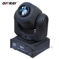 LED 8 Renkler 10 W / 30 W Noktalar Işık DMX Sahne Spot Hareketli Mini LED Hareketli Kafa DJ Etkisi Işıklar Dans Disko için Aydınlatma Takip Et