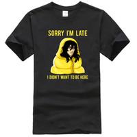Мужские футболки My Hero Academia извините, я опоздал, я не хотел быть здесь рубашкой