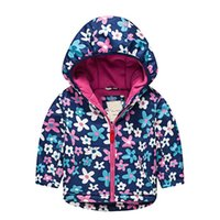 Boys and Girls Autumn and Winter Jackets Girls Thick Print C...