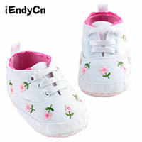 Babies Shoes For Baby Girl Spring White Pink Flowers Scarpe da bambino Female Toddler A14LLR
