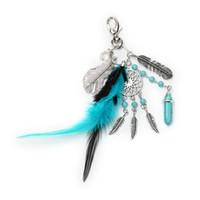 Fait à la main pierre naturelle Keychain Dream Catcher Porte Glands plume Keychain femmes argent Boho Bijoux cadeau pour les femmes