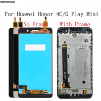 "ORIWHIZ 5.0 ""LCD para huawei g play mini / honor 4c display lcd touch screen digitador assembléia com frame 100% testado lcds substituição"