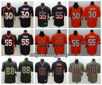 0678c8ab8 New Arrival. Men Denver Jersey Broncos 10 Emmanuel Sanders 88 Demaryius  Thomas 30 Phillip Lindsay 55 Bradley Chubb Color Rush Stitching Football  Jerseys