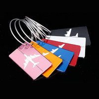 Fashion Aluminium Alloy Luggage Tags Airplane Pendant Baggage Name Tags Suitcase Address Label Holder Travel Accessories