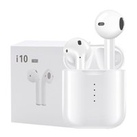 i10 TWS Bluetooth 5. 0 Wireless Headsets Earbuds Touch Mic He...