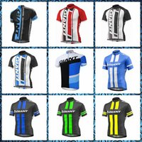 2019 New GIANT team Cycling Short Sleeves jersey Bike Wear Q...