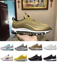 Descuento 97 OG Bullet Running Shoes Comfort Men Airs Cushion Plata invicto Metallic Gold Sports Athletic Run Shoes Sneaker al aire libre