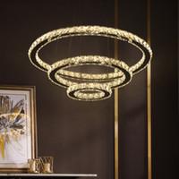 Lámpara de lámpara de araña de cristal LED moderna para la sala de estar Lámpara de lustre de cristal Lustre de iluminación Colgante Colgante de techo