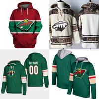 Minnesota Wild Hoodie Jersey para hombre 11 Zach Parise 12 Eric Staal 20 Ryan Suter 36 Nick Seeler 40 Devan Dubnyk 9 Mikko Koivu Camisetas de hockey