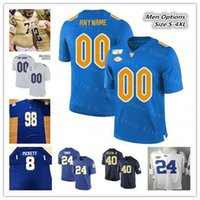 2019 Männer College Football Pittsburgh Panthers Pitt Trikots 24 Conner 13 Dan Marino 25 Darrelle Revis LeSean McCoy Kenny Pickett 4XL genäht