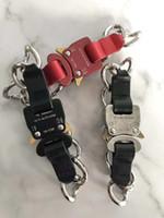1017 ALYX STUDIO LOGO ceintures de gourmette en métal Hommes Femmes Hip Hop Rue de plein air Accessoires Festival de bateau libre Cadeau Rouge Noir Argent
