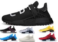2018 nova Pharrell Williams raça humana XR1 R1 R2 sapatilhas das mulheres dos homens de esportes executando sapatos pretos brancos cinza primeknit PK corredor Sports Shoes