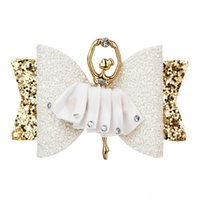 Thumblina Ballerina Glitter Bow Sparkly Hair Clip for Women ...
