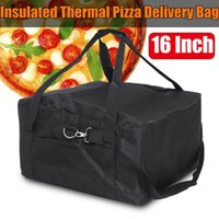 16 Zoll Stärke tragbare Oxford Cloth Red Box Easy Use Halter Pizza Delivery Beutel-Speicher-Container Isolier Frisch