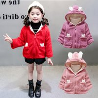 Kids Girls Jackets Autumn Winter Kids Plus Velvet Lovely Rex...