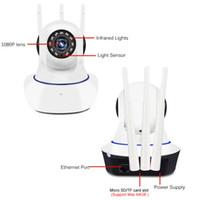 Fotocamera per il monitor del bambino 720P 1080P SANNCOME HOME SECUTE SICUREZZA CCTV Smart Smart Smart Telecamera Surveillance WiFi 360 rotante Nightvision