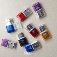 Haute vitesse Cristal USB 2.0 transparent TF flash adaptateur lecteur de carte T-Flash mémoire Micro SD pour 4gb 8gb 16gb 2gb 64gb TF carte 32Go